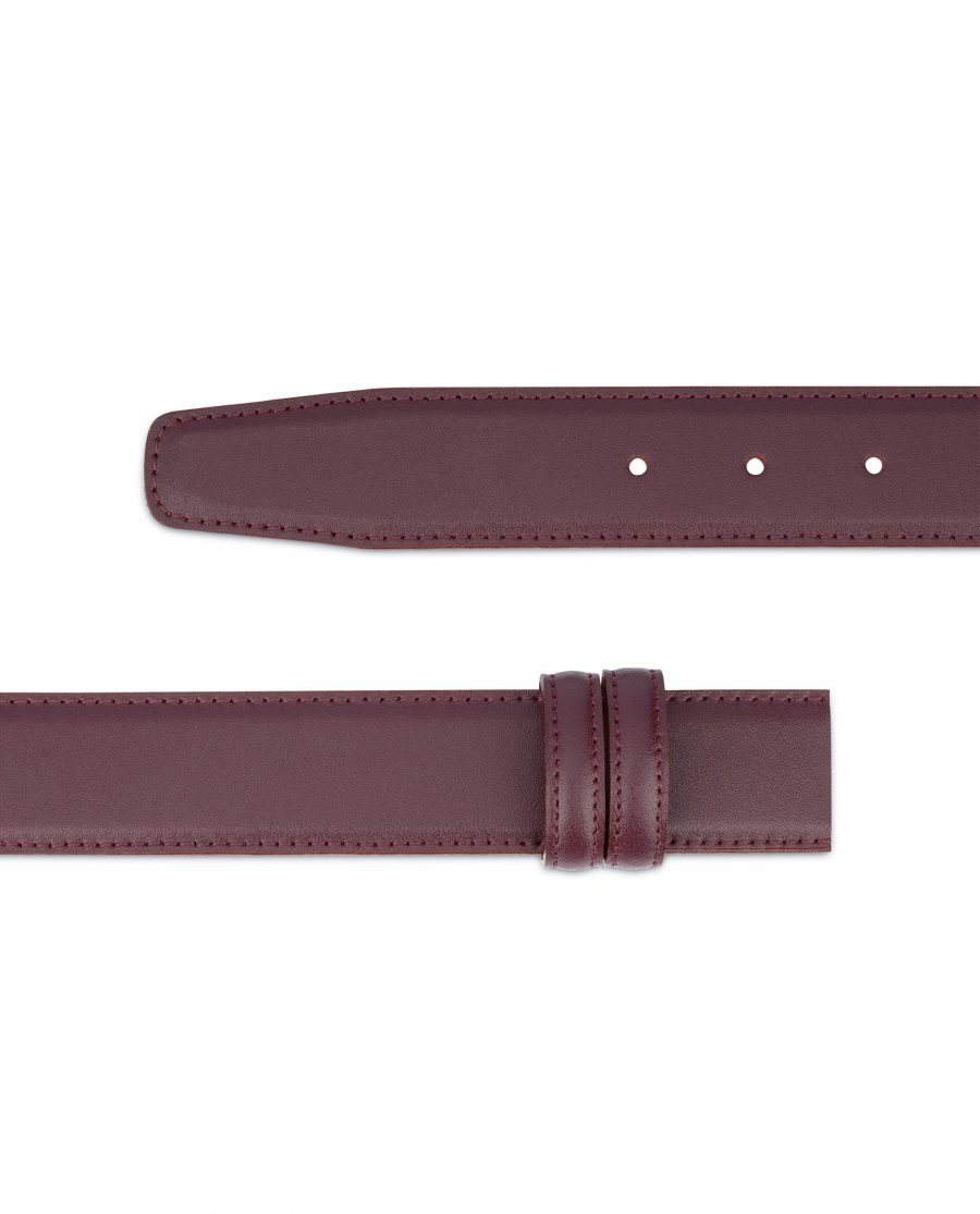 Burgundy Belt Without Buckle Replacement strap 2