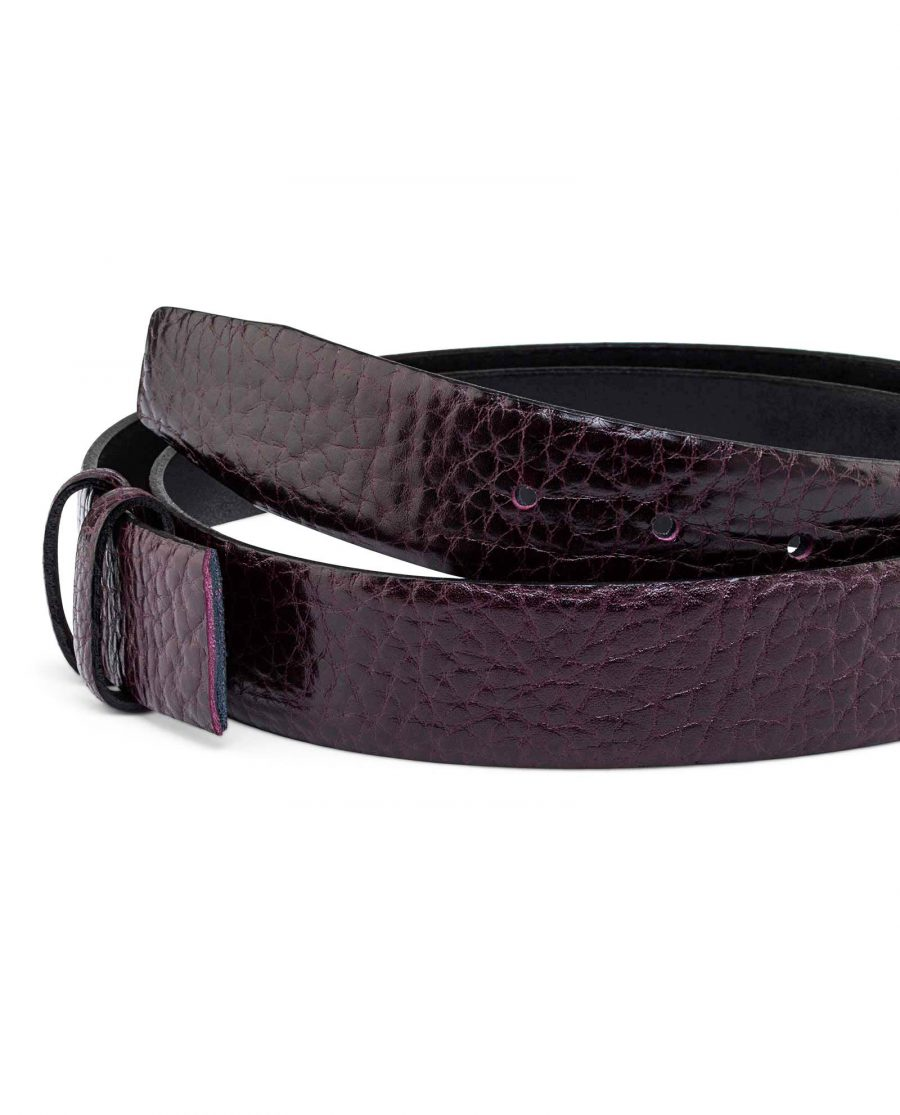 Burgundy-Cowhide-Belt-Strap-35-mm-Buckle-attachment