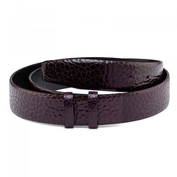Burgundy-Cowhide-Belt-Strap-35-mm-Main-picture