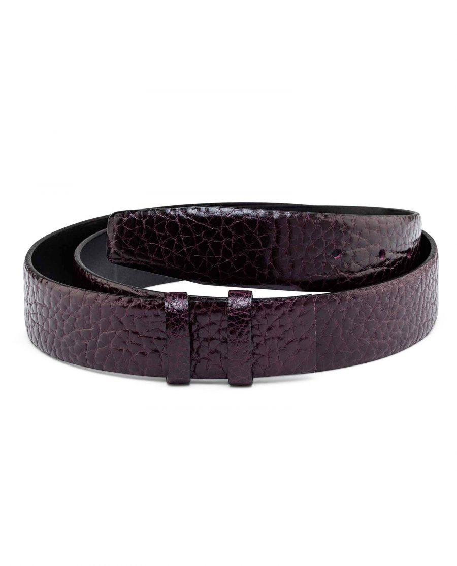 Burgundy-Cowhide-Belt-Strap-35-mm-Main-picture