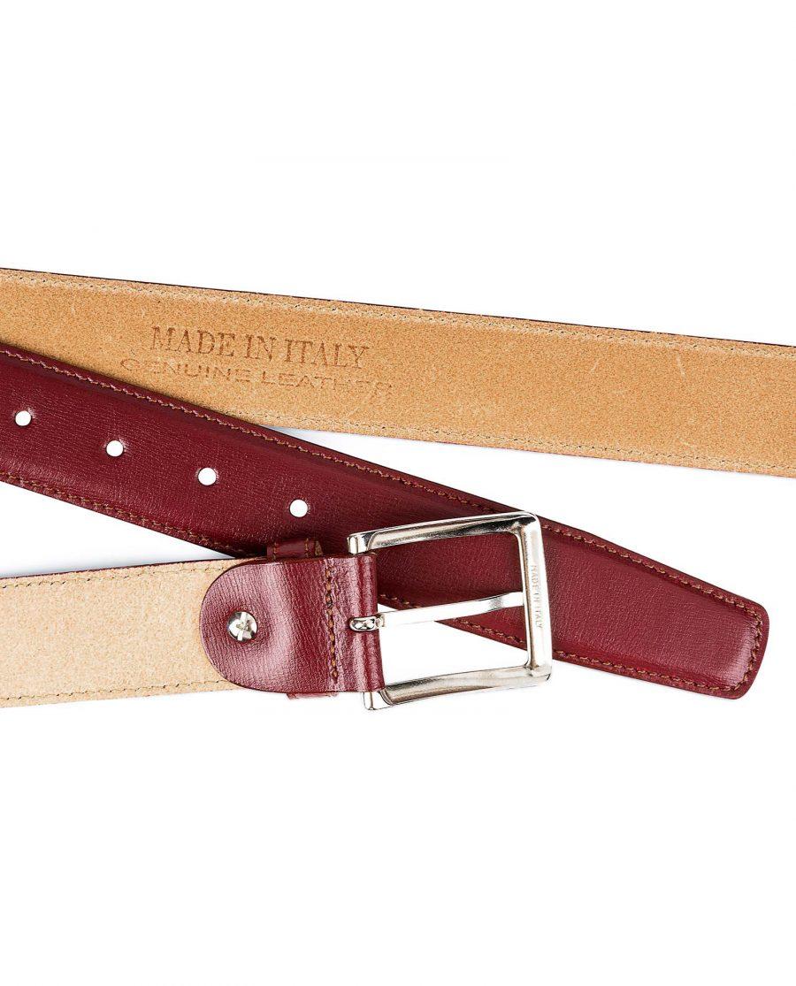 Burgundy-Italian-Calfskin-Belt-by-Capo-Pelle-Made-in-Italy-stamp-Buckle