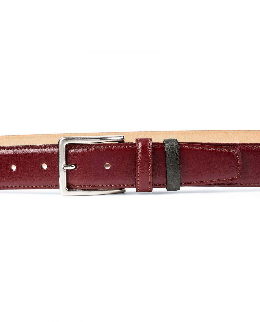 Burgundy-Italian-Calfskin-Belt-by-Capo-Pelle-On-pants
