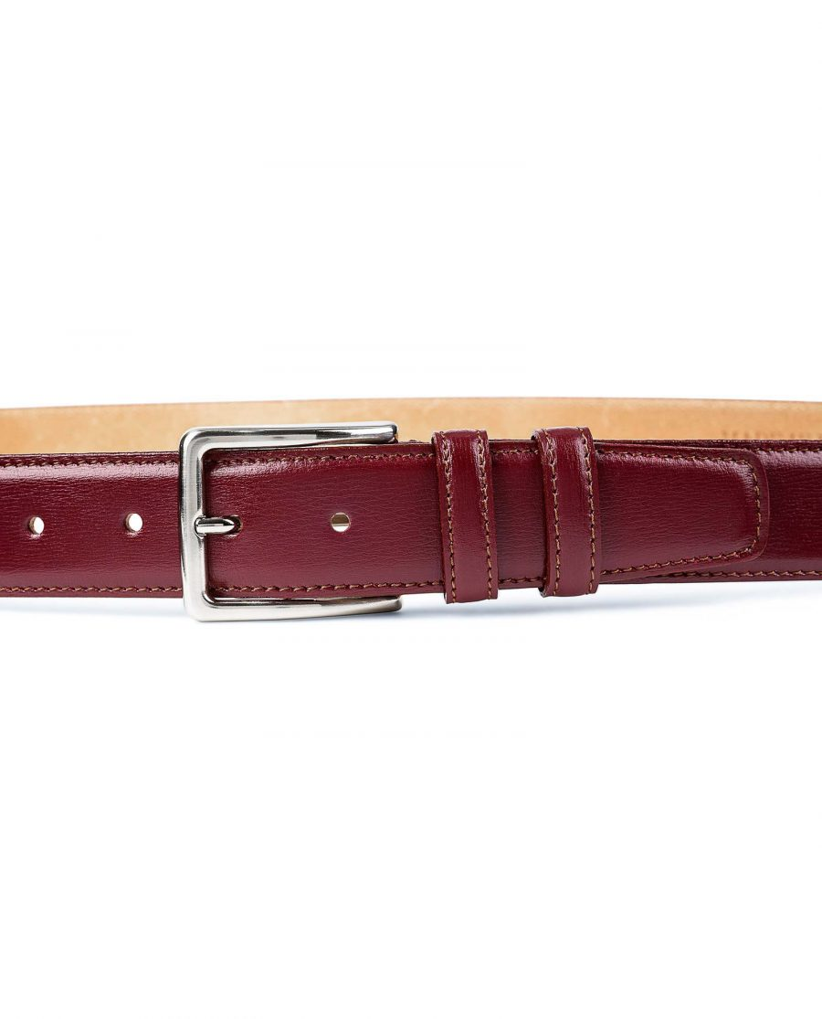 Burgundy-Leather-Belt-by-Capo-Pelle-On-pants