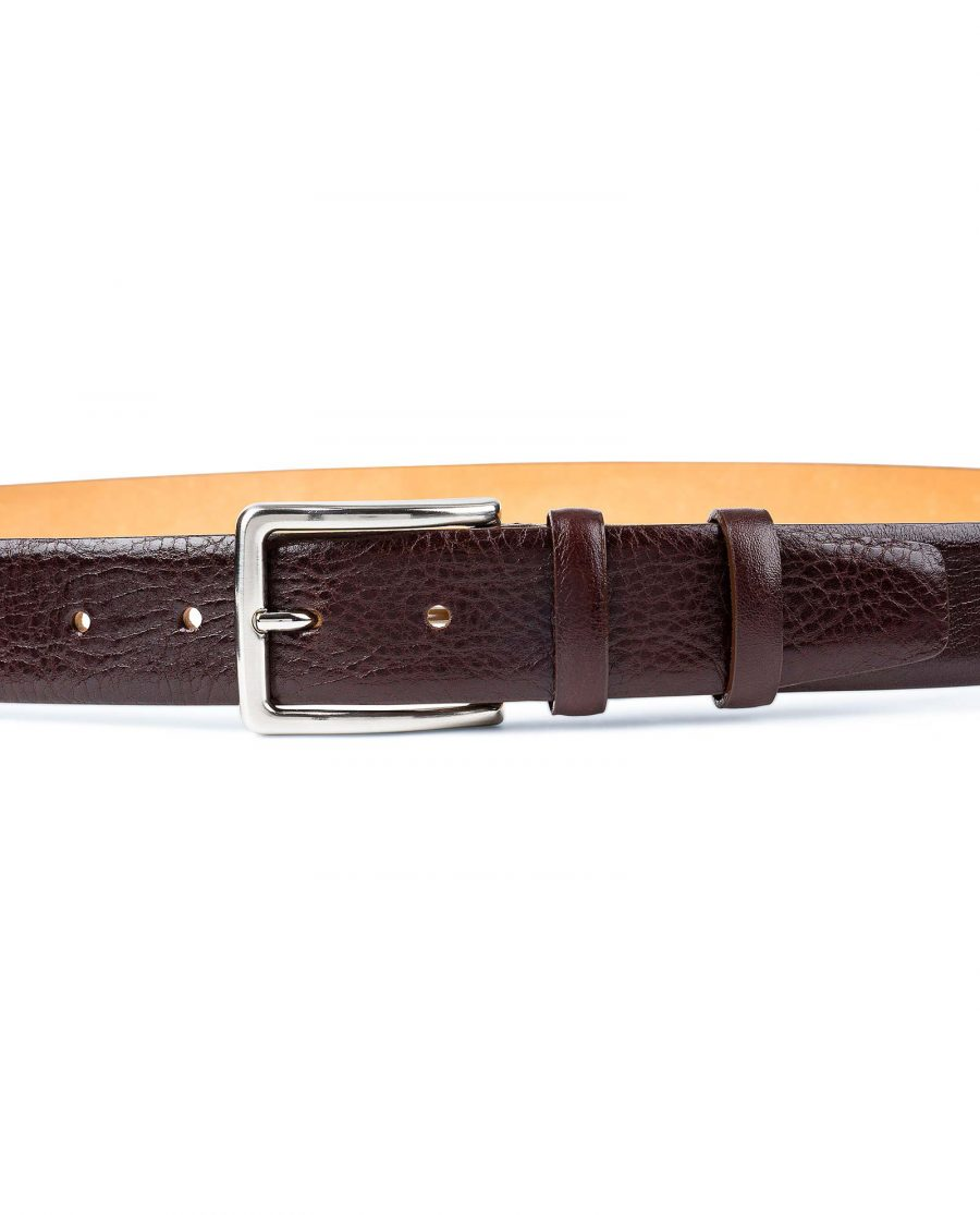 Capo-Pelle-Cognac-Brown-Leather-Belt-First-image-on-pants
