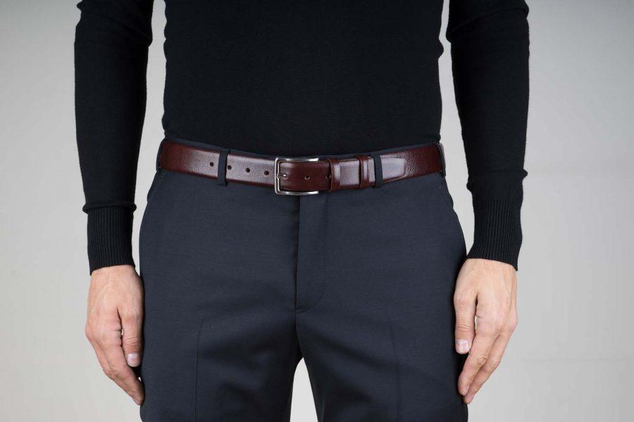 Capo-Pelle-Cognac-Brown-Leather-Belt-Live-on-Pants