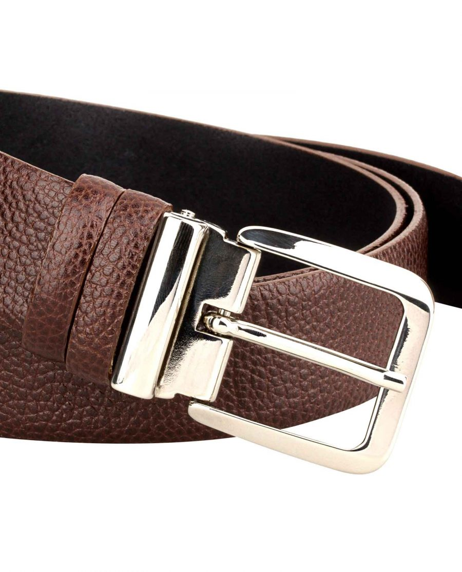 Casual-Mens-Belt-Italian-Buckle-Close-picture