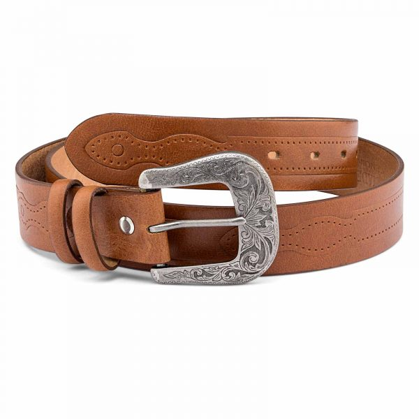 Classic-Western-Belt-Antique-silver-buckle
