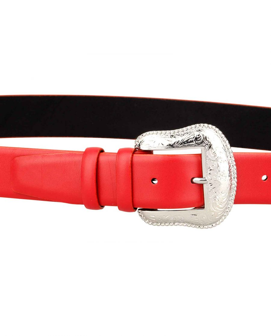 Cowgirl-Red-Belt-On-jeans