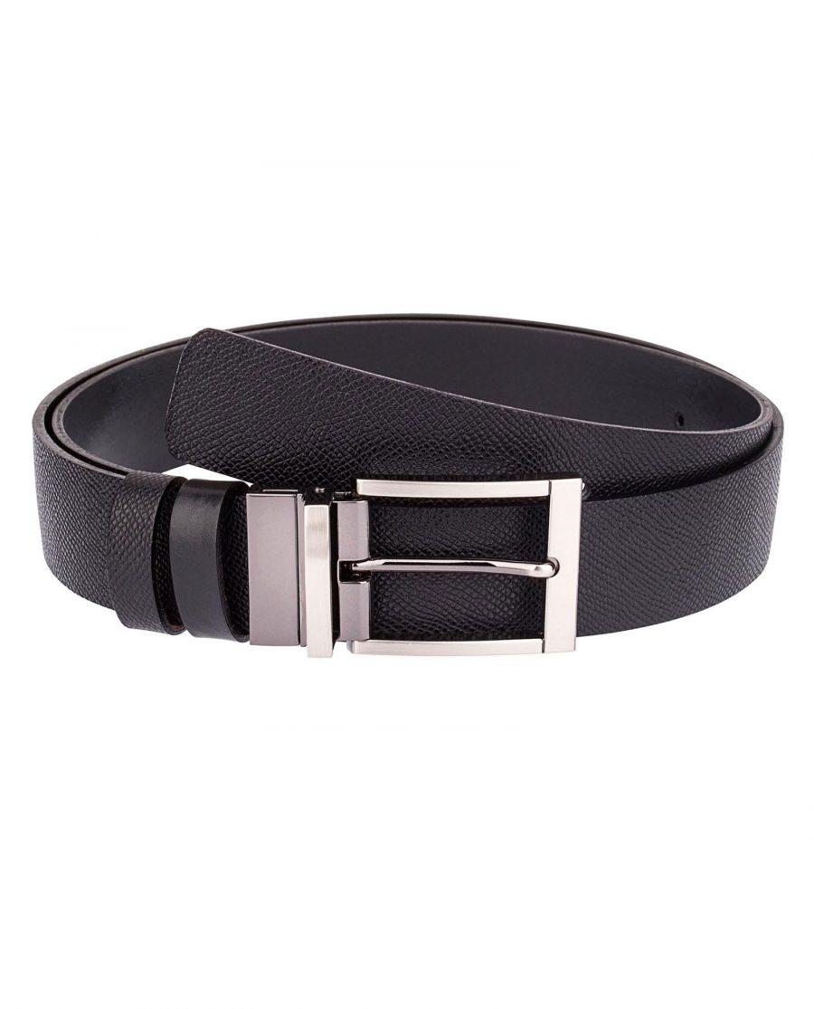 Cowhide-Belt-Black-Reversible-Front-image