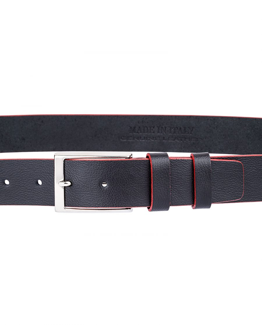 Cowhide-Belt-with-Red-Edges-On-pants