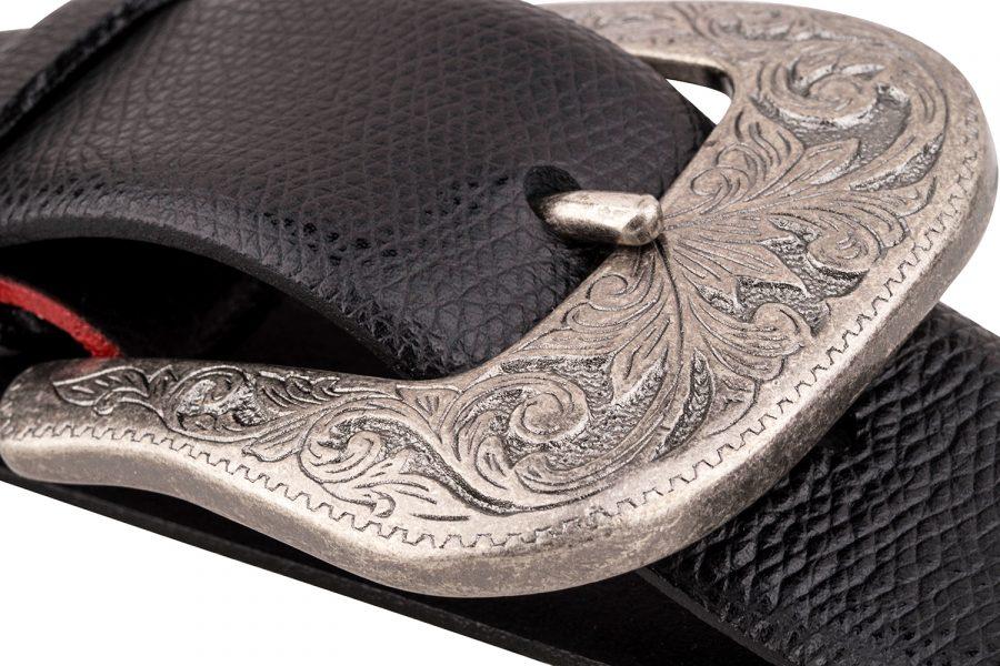 Cowhide-Cowboy-Belt-Buckle-Antiques-silver