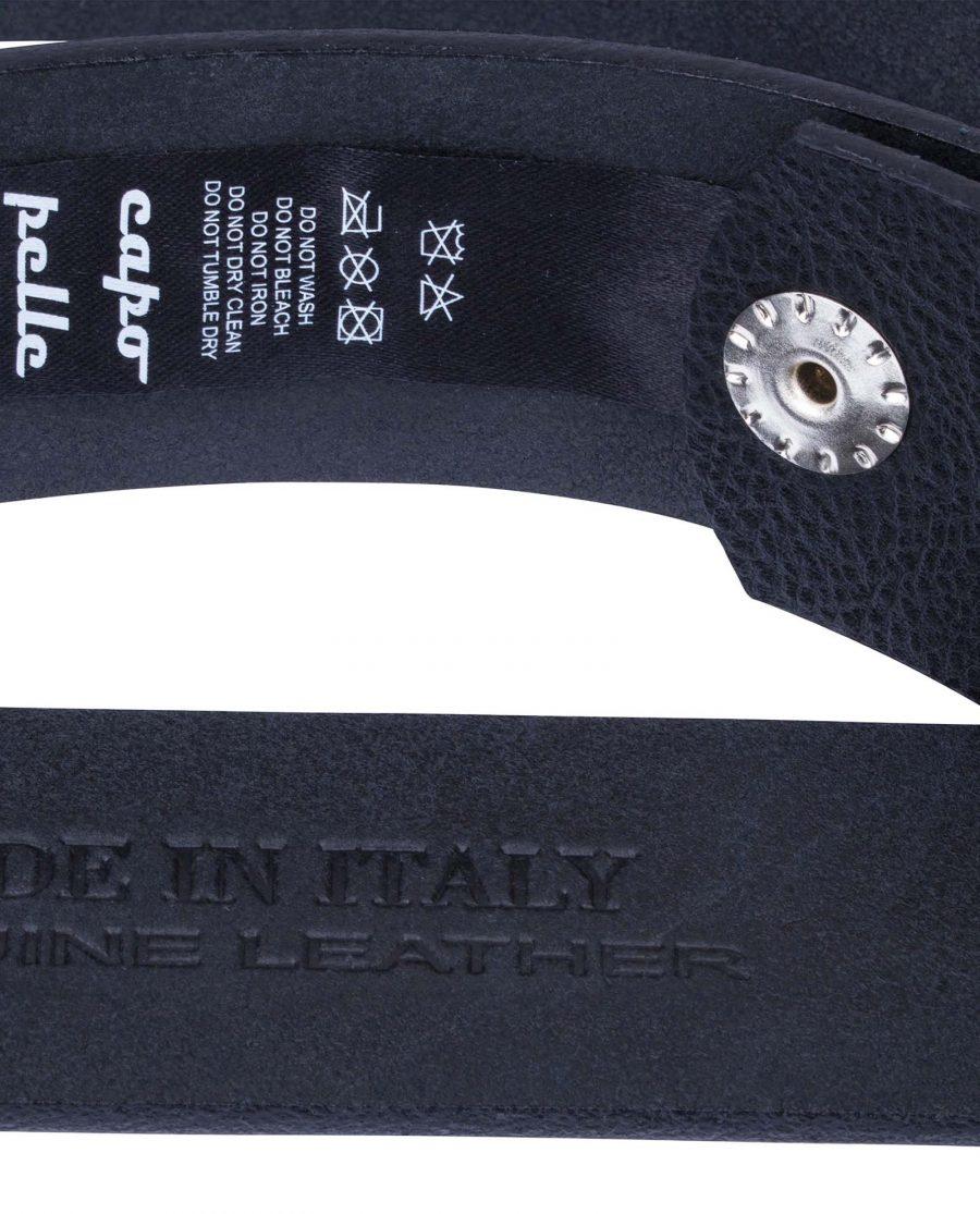 Cowhide-Snap-On-Belt-Strap-Care-label