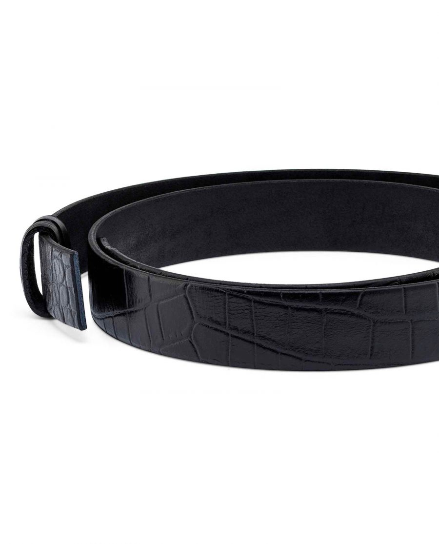 Croco-Embossed-Belt-Strap-30-mm-Buckle-mount