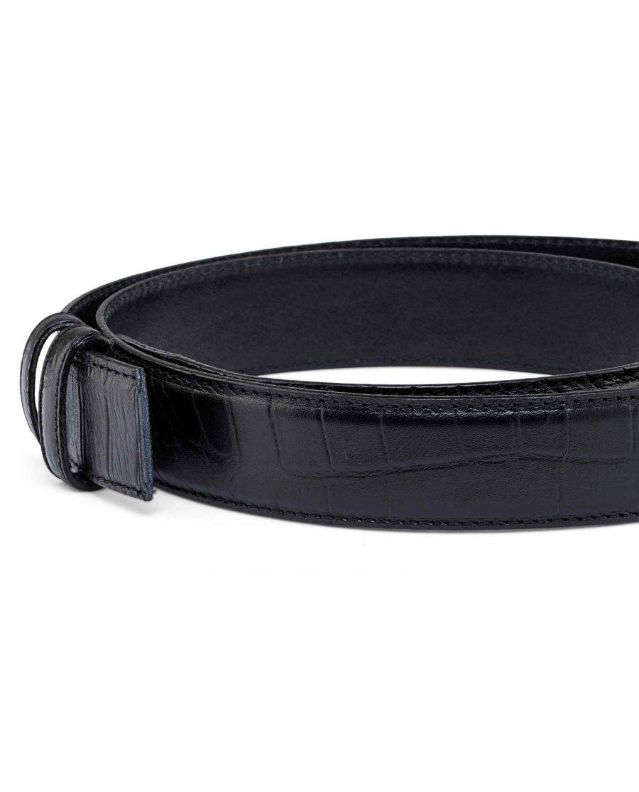 Crocodile-Embossed-Belt-Strap-35-mm-Buckle-mount