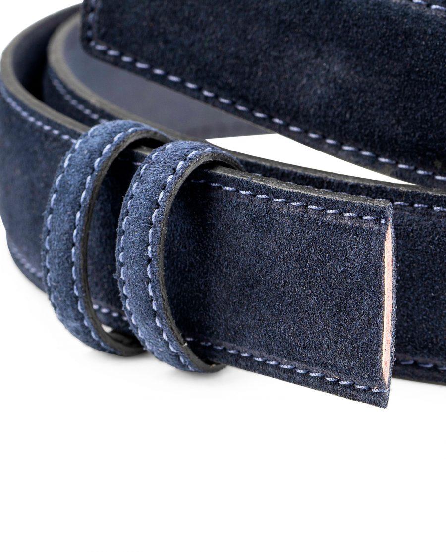 Dark-Blue-Suede-Belt-Strap-35mm-Wide-Buckle-attachment