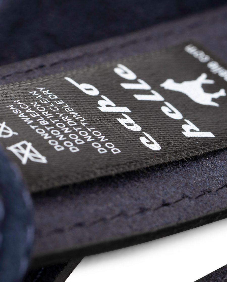 Dark-Blue-Suede-Belt-Strap-35mm-Wide-Care-label