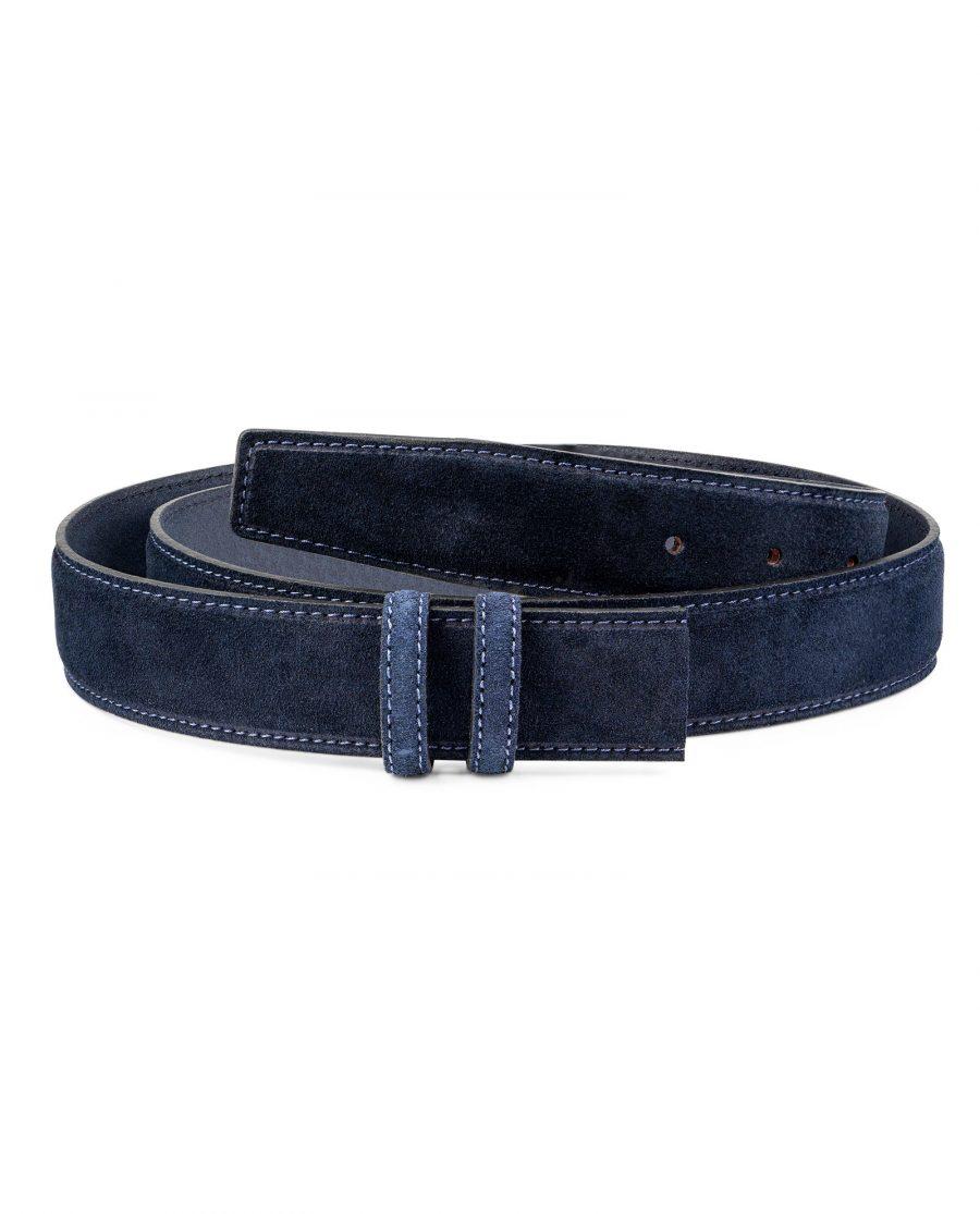 Dark-Blue-Suede-Belt-Strap-35mm-Wide-First-picture