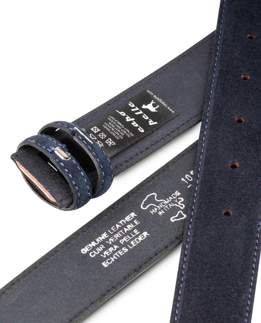 Dark-Blue-Suede-Belt-Strap-35mm-Wide-Heat-stamp