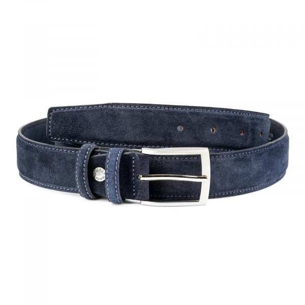 Dark-Blue-Suede-Belt-by-Capo-Pelle-Italian-leather-First-image