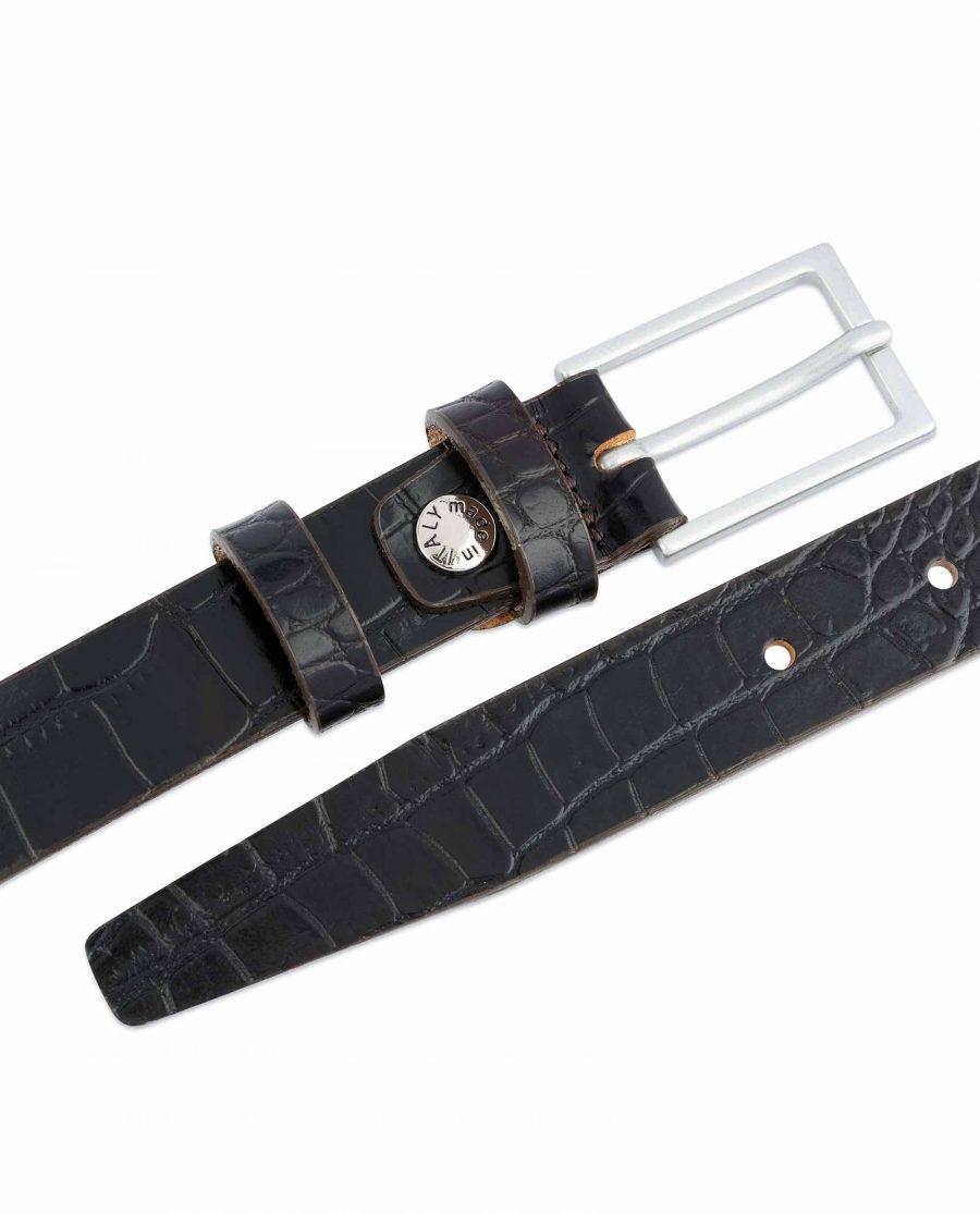 Dark-Brown-Croco-Belt-Embossed-leather-1-inch-Crocodile