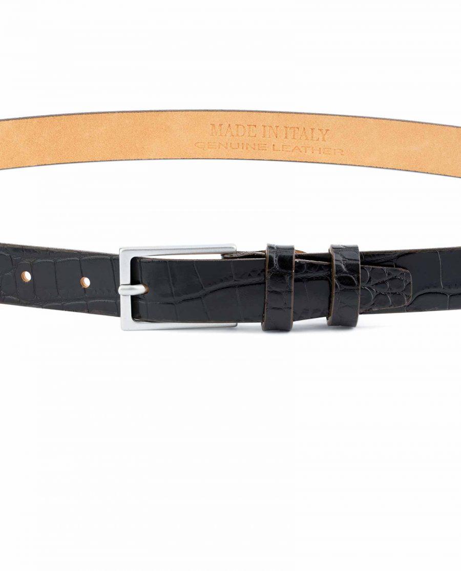Dark-Brown-Croco-Belt-Embossed-leather-1-inch-On-pants