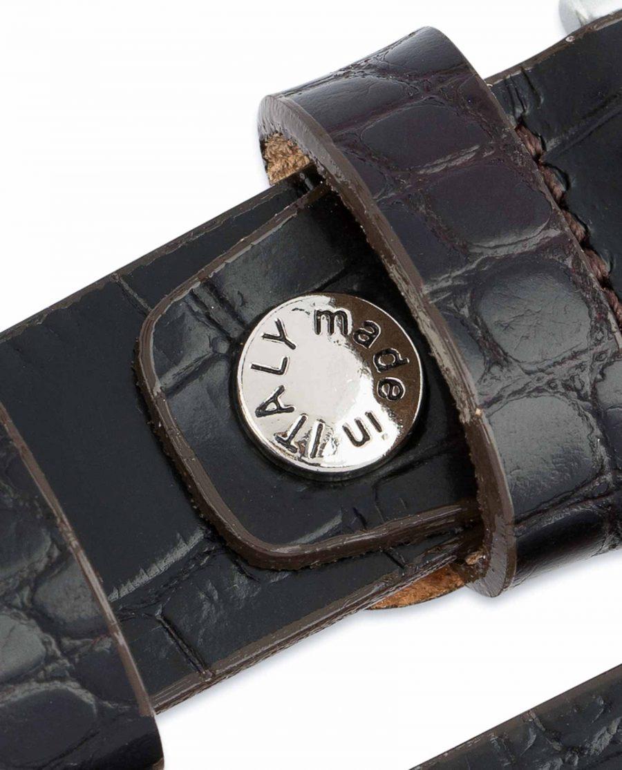 Dark-Brown-Croco-Belt-Embossed-leather-1-inch-Screw-bolt