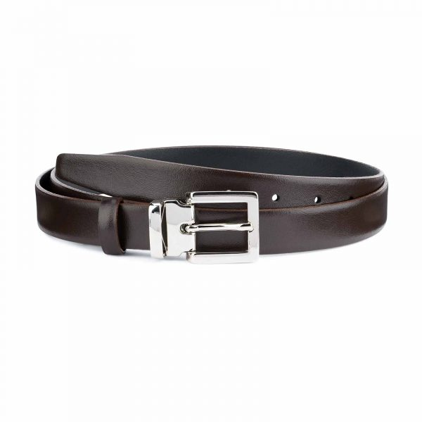 Dark-Brown-Leather-Belt-25-mm-Italian-Buckle-Capo-Pelle