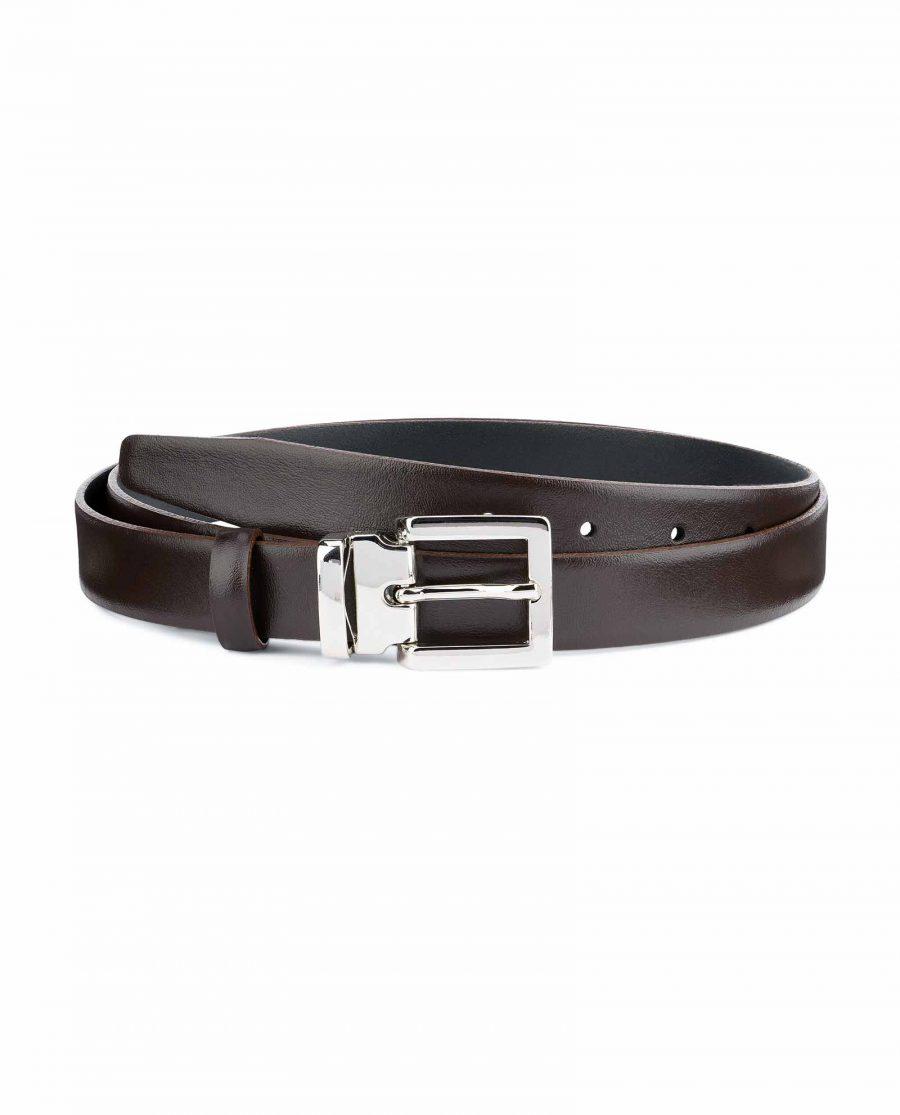 Dark-Brown-Leather-Belt-25-mm-Italian-Buckle-Capo-Pelle