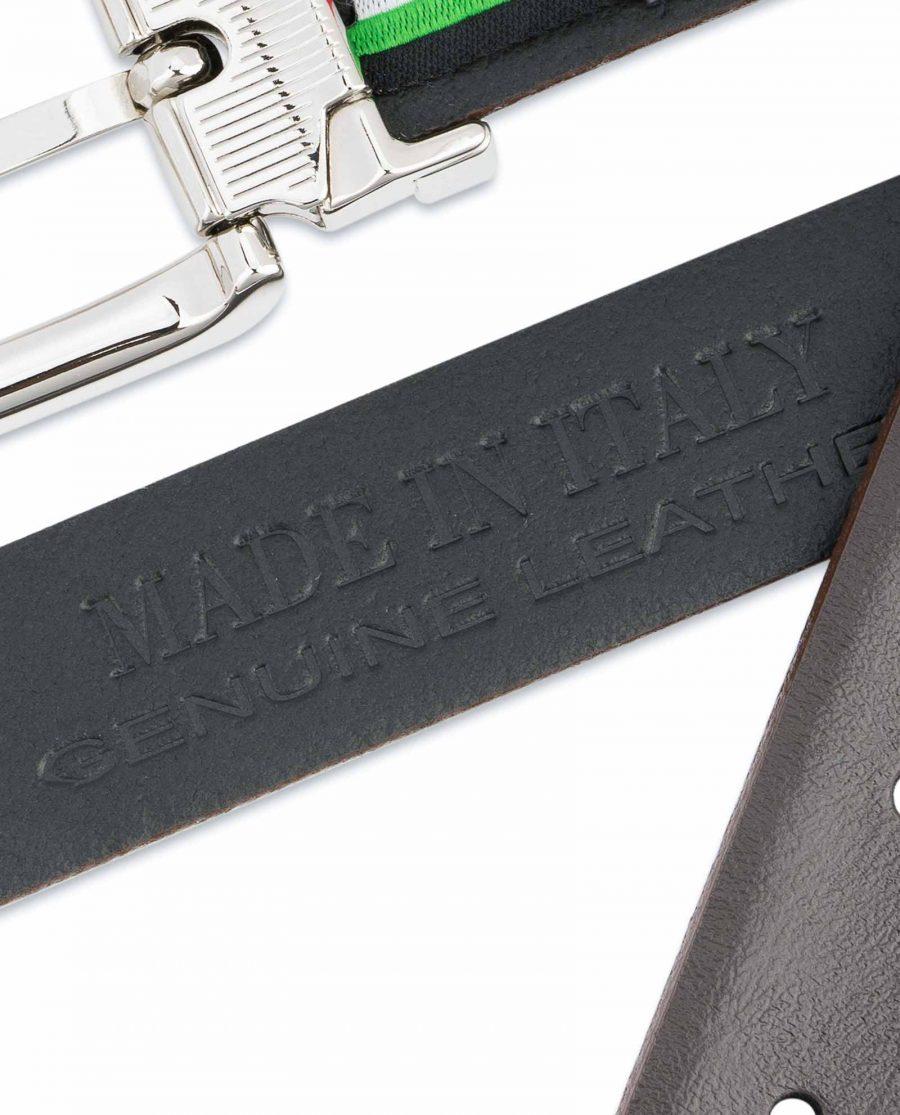 Dark-Brown-Leather-Belt-25-mm-Italian-Buckle-Heat-stamp