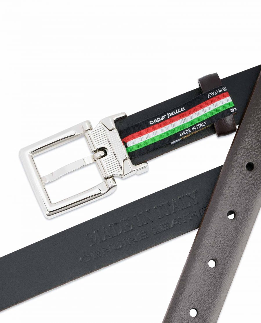 Dark-Brown-Leather-Belt-25-mm-Italian-Buckle-Made-in-Italy