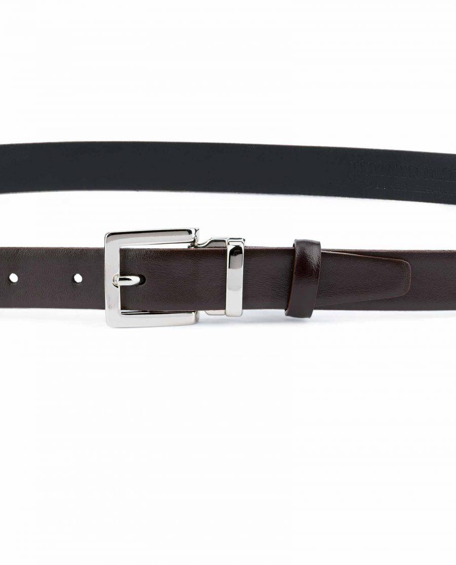 Dark-Brown-Leather-Belt-25-mm-Italian-Buckle-On-trousers