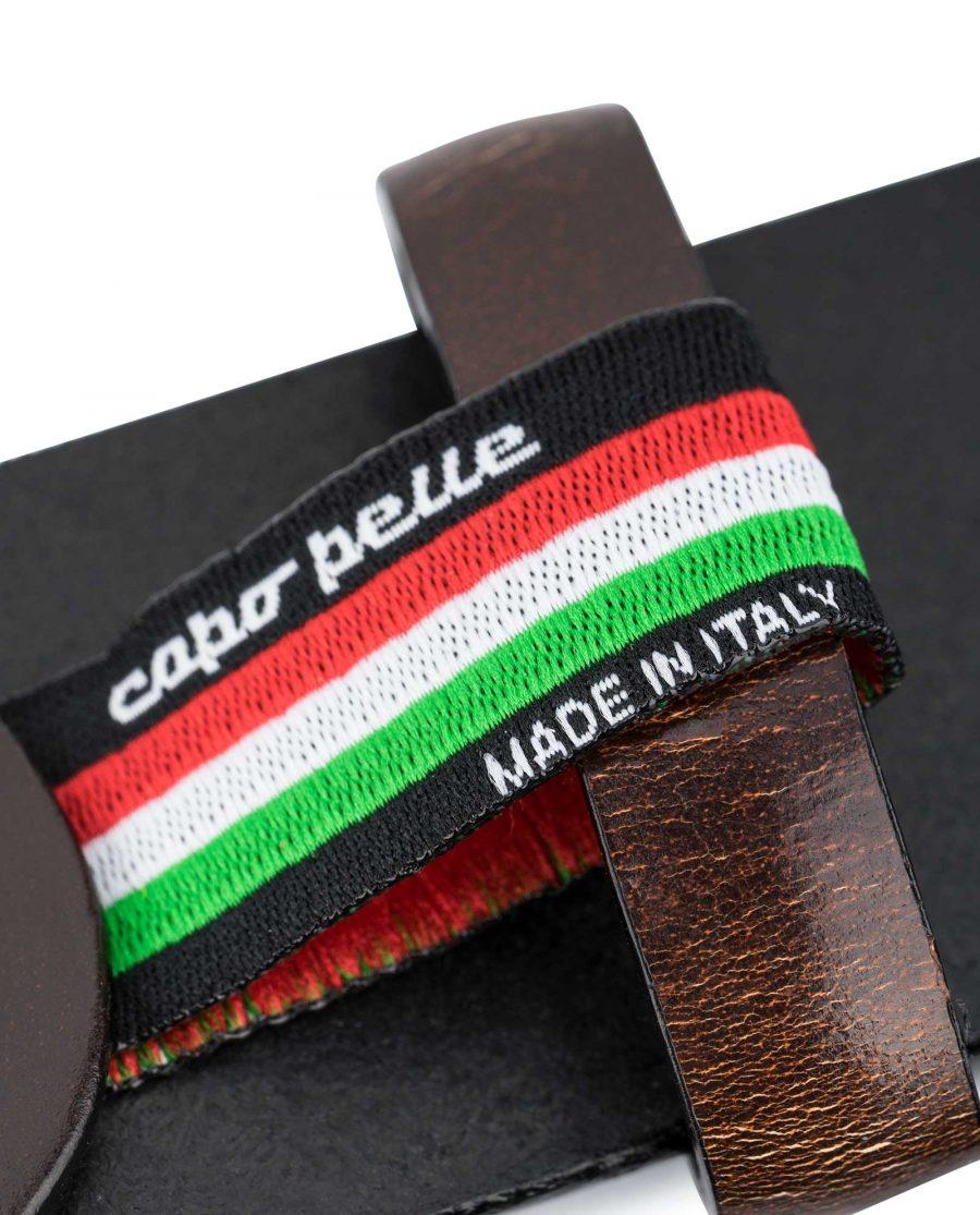 Dark-Brown-Vegetable-Tanned-Leather-Belt-Capo-Pelle
