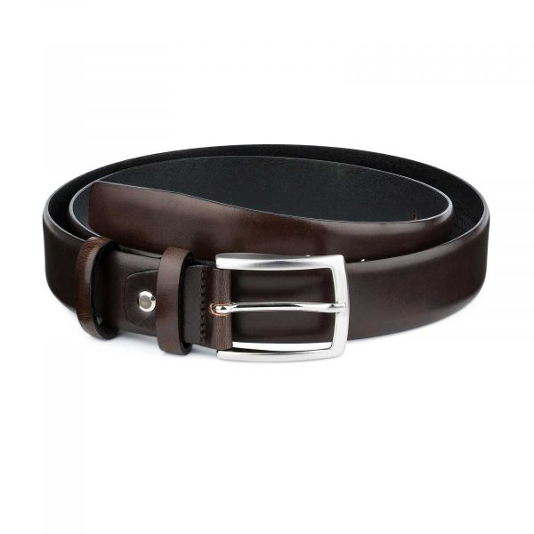 Dark-Brown-Vegetable-Tanned-Leather-Belt-Main-picture