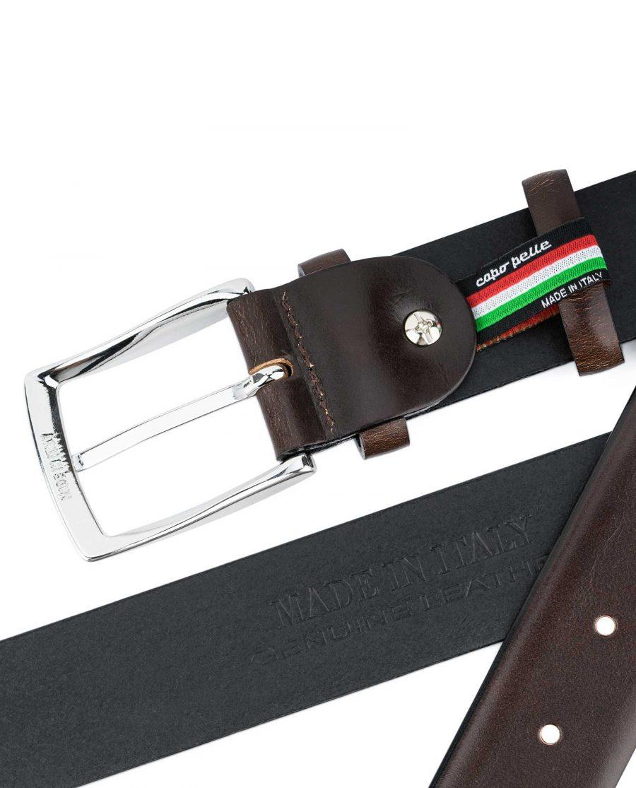 Dark-Brown-Vegetable-Tanned-Leather-Belt-Reverse