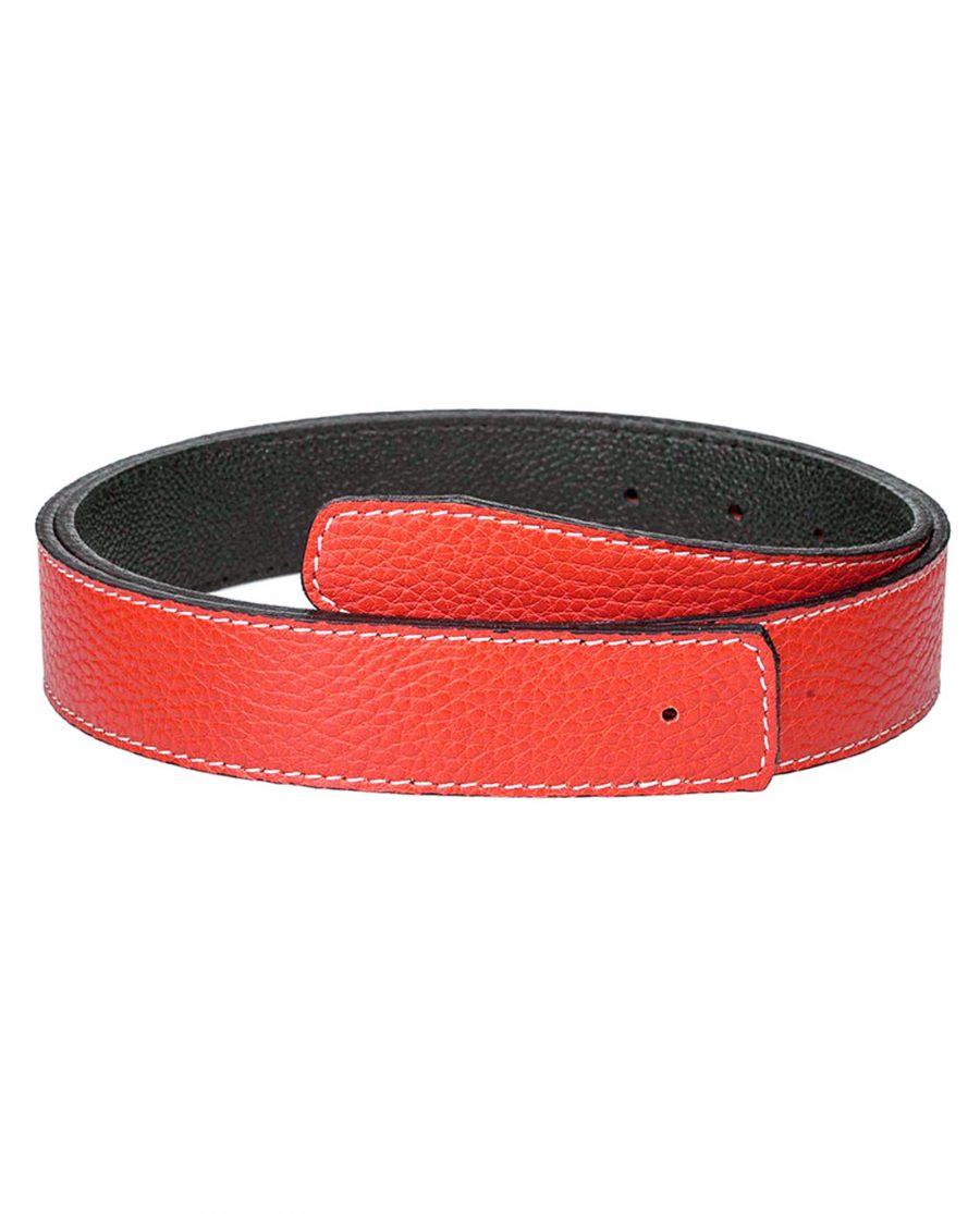 Dark-orange-h-belt-strap