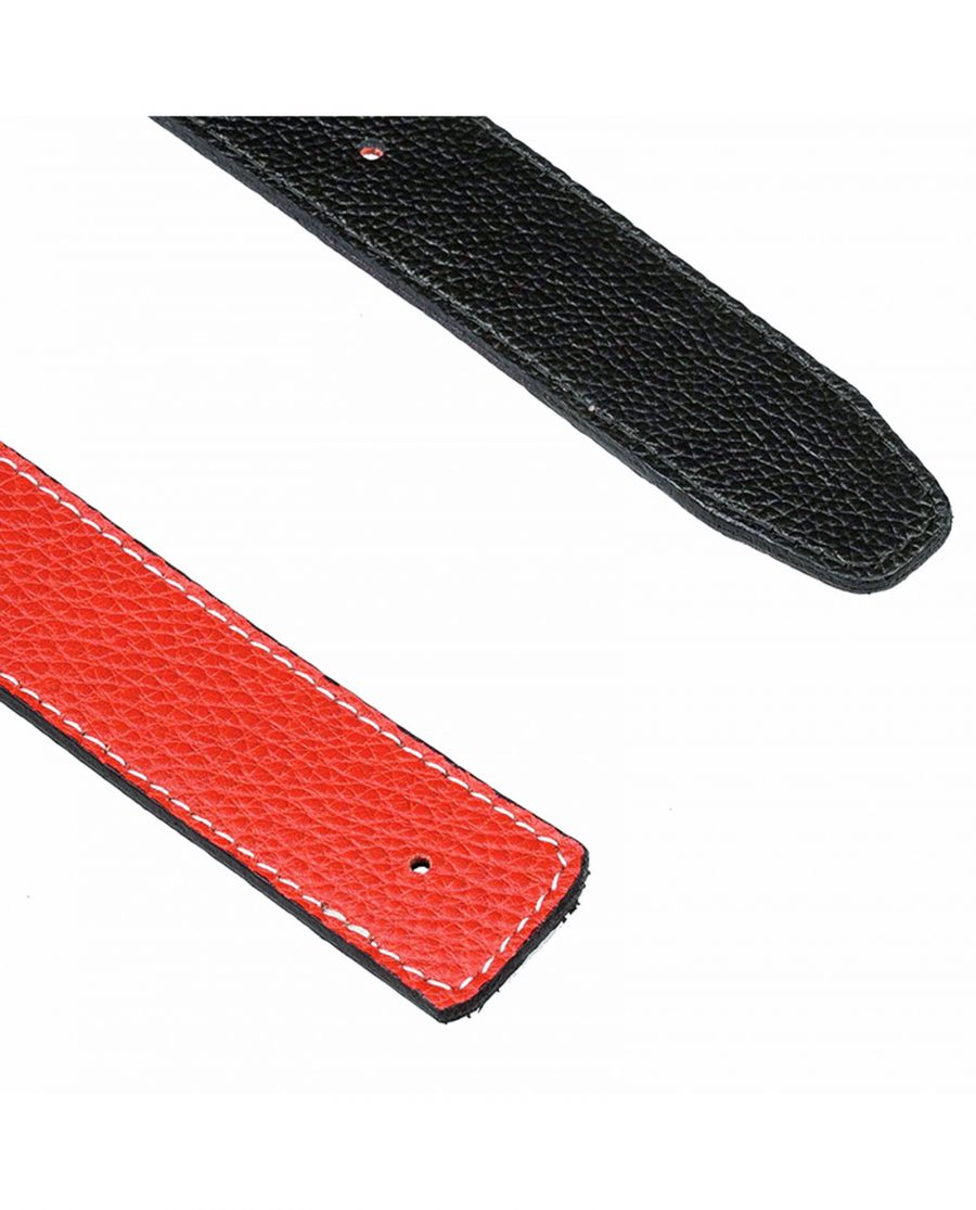 Dark-orange-h-belt-strap-end
