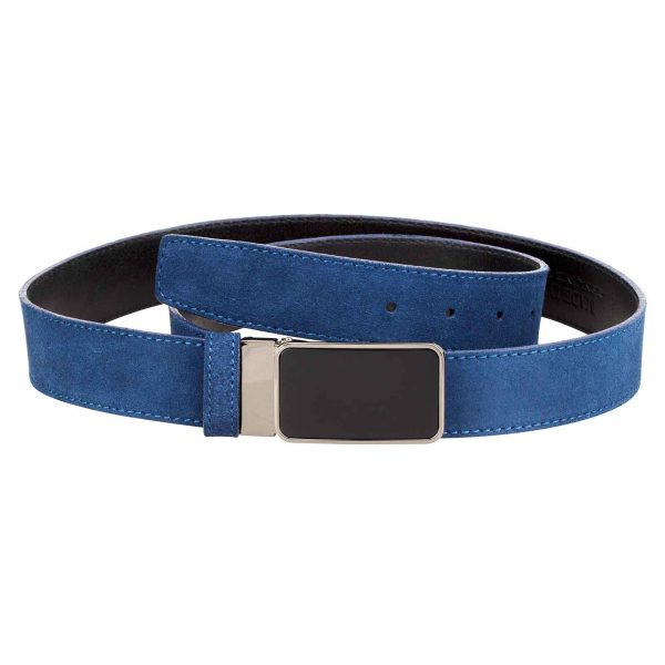 Designer-Blue-Suede-Belt-Main-image