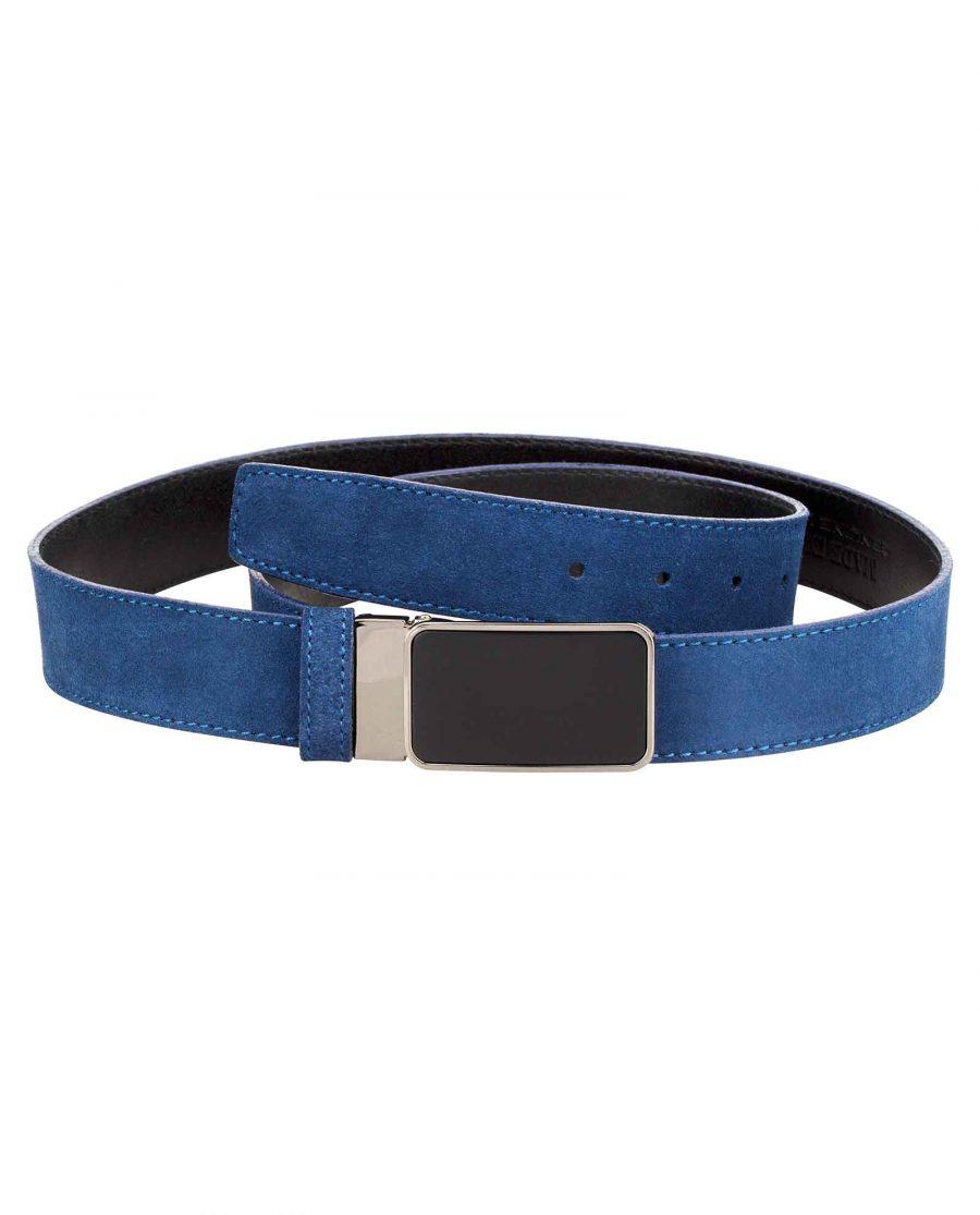 Designer-Blue-Suede-Belt-Main-image