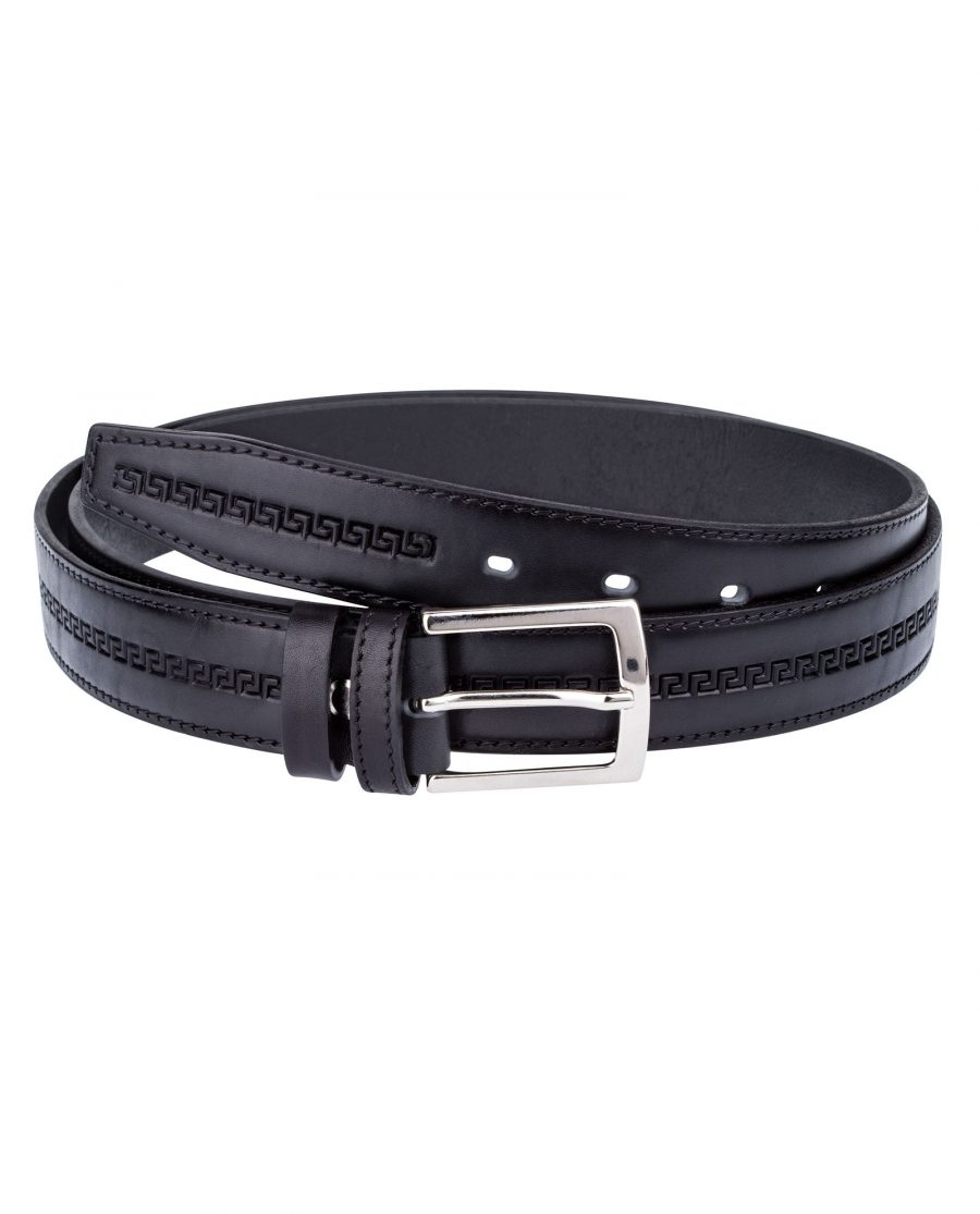 Embossed-Black-Belt-for-Suit-Front-picture