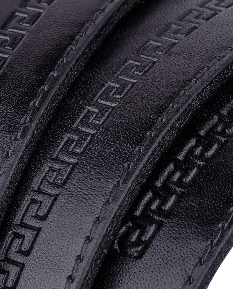 Embossed-Black-Belt-for-Suit-Rolled-strap
