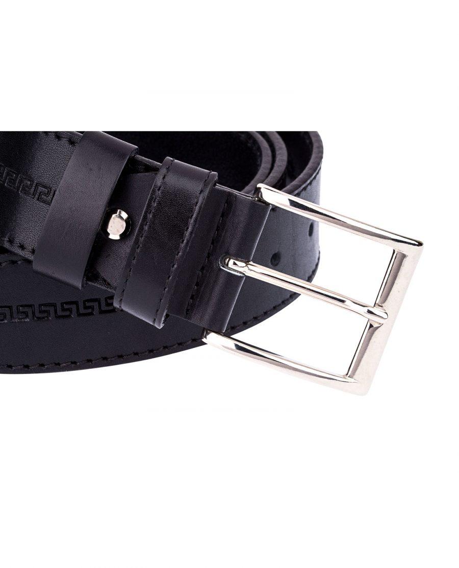 Embossed-Leather-Belt-Wide-Buckle-image