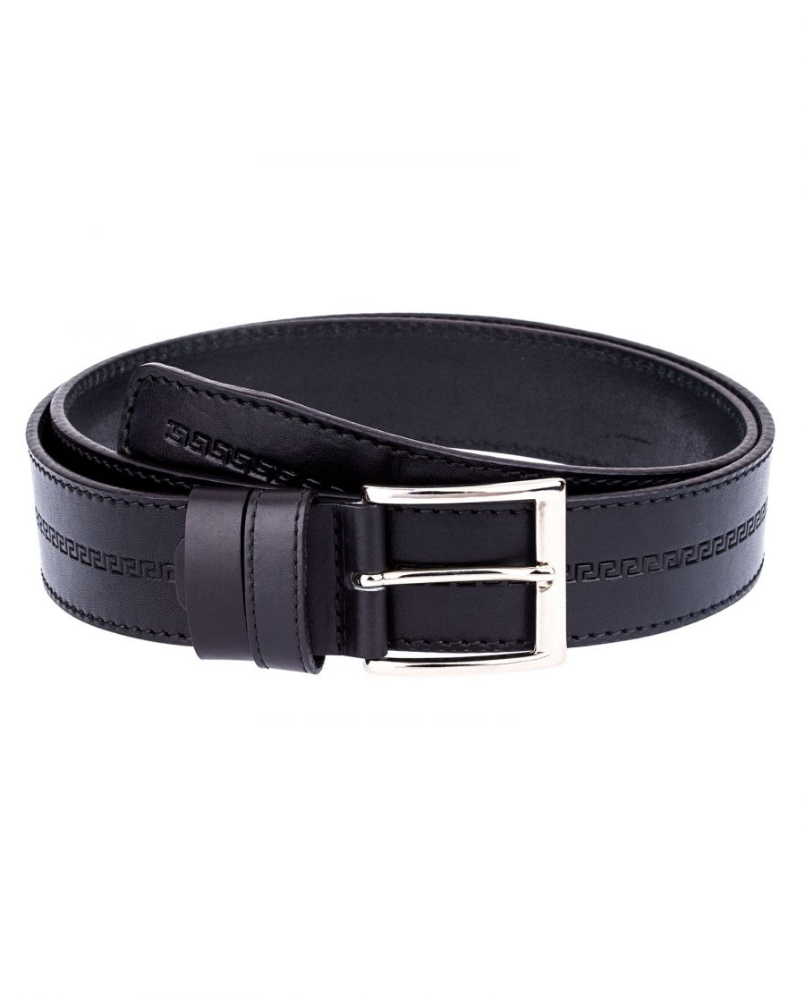 Embossed-Leather-Belt-Wide-First-image