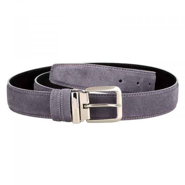 Gray-Suede-Belt-Italian-Buckle-Main-picture