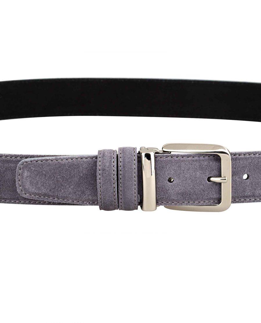 Gray-Suede-Belt-Italian-Buckle-On-pants