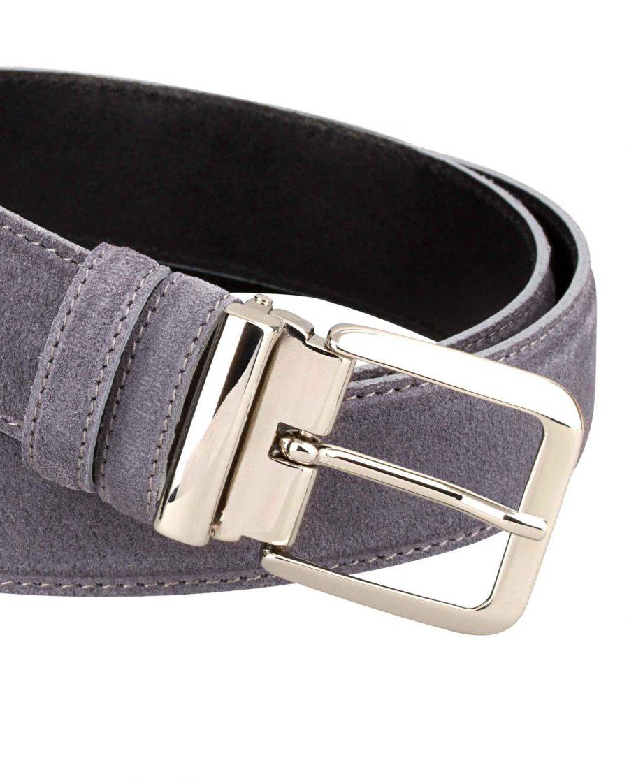 Gray-Suede-Belt-Italian-Buckle-Zoom