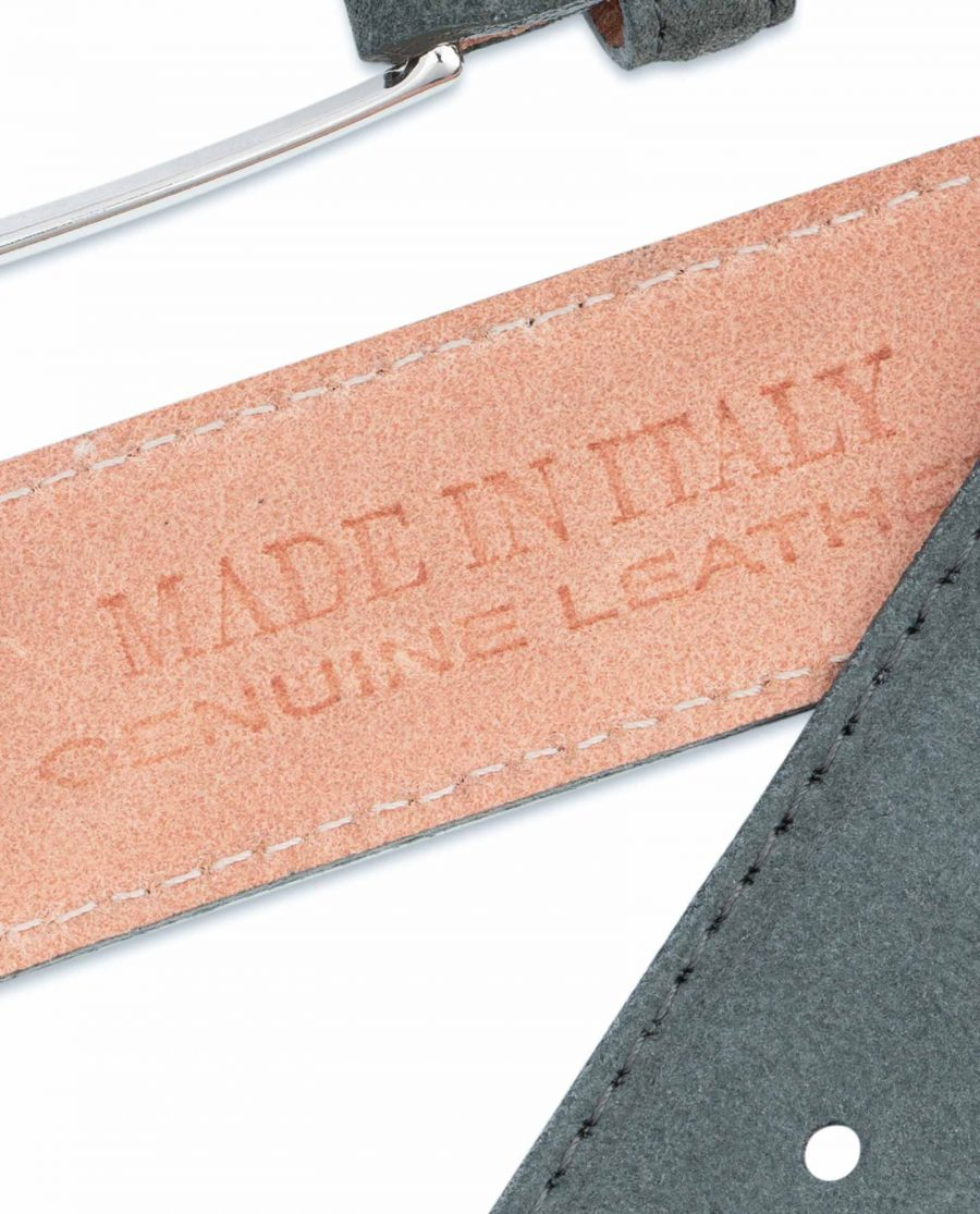 Gray-Suede-Belt-Mens-Made-in-Italy