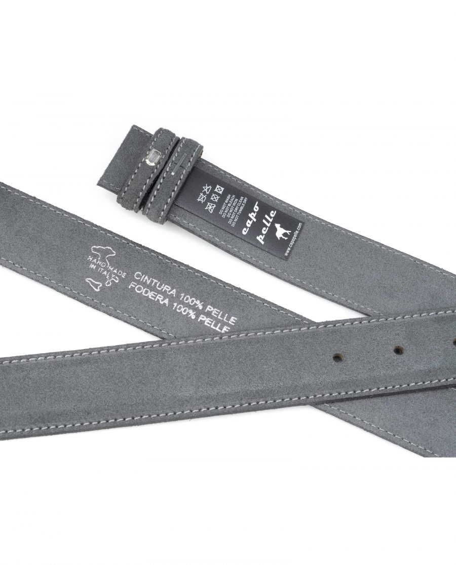 Gray-Suede-Belt-Strap-Gray-Italian-Leather-Capo-Pelle-Tags