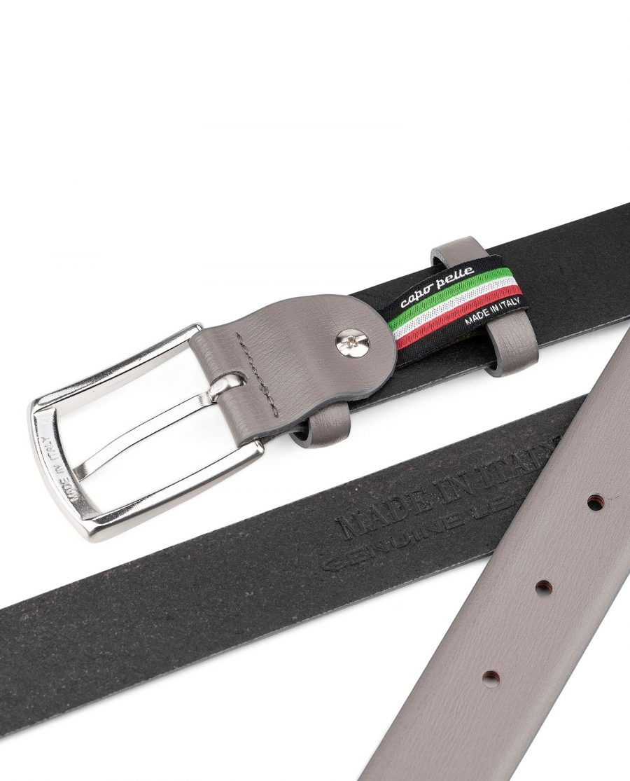 Grey-Leather-Belt-for-Men-30-mm-by-Capo-Pelle-Heat-stamp-Italy