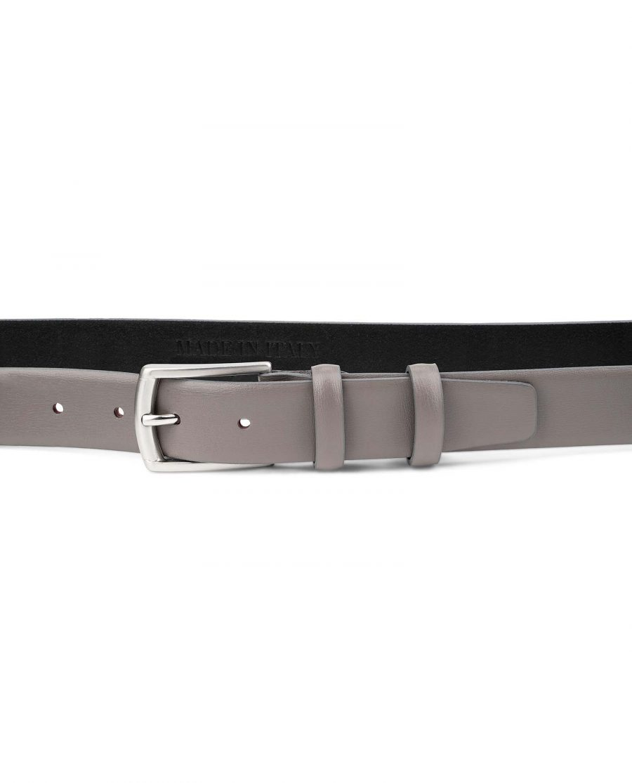 Grey-Leather-Belt-for-Men-30-mm-by-Capo-Pelle-On-trousers