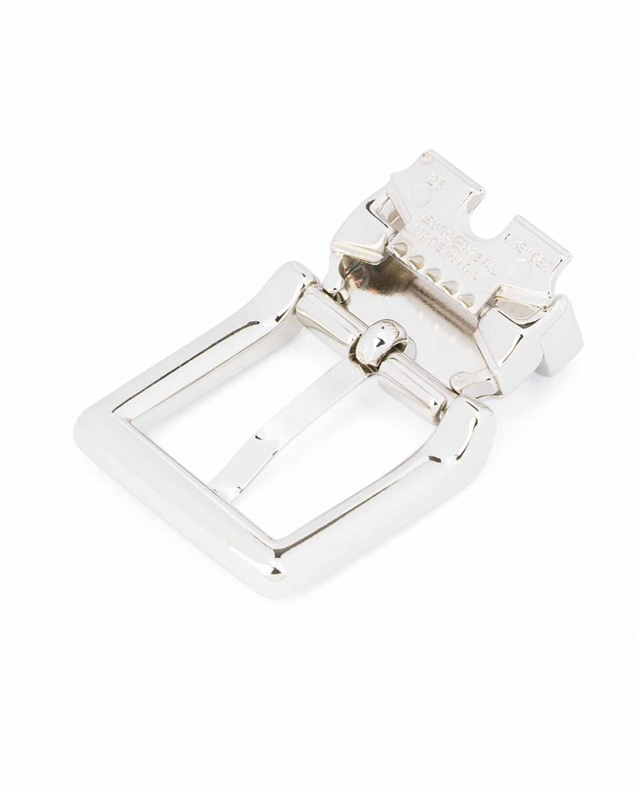 Italian-1-inch-Belt-Buckle-Square-Nickel-Clamp-on